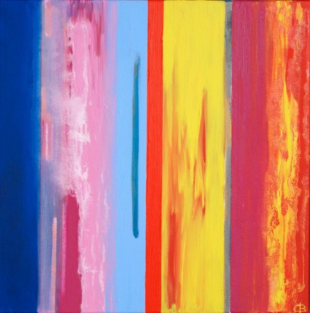'Carnival Fizz' (2009) 75cm X 75cm ~ Chris Billington