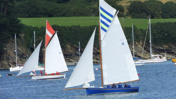 Falmouth Working Boats Florence and Rita sailing into The Helford after the racing, Henri Lloyd Falmouth Week opening race day ~ Chris Billington