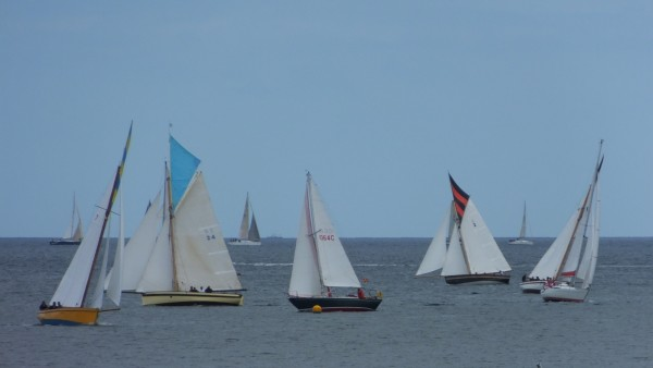 Falmouth Working Boats racing in the bay of The Helford, Henri Lloyd Falmouth Week opening race day ~ Chris Billington