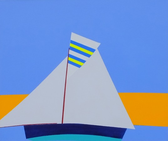 'Rita Wins Again' (2013) ~ 24in x 20in ~ acrylic on canvas ~ Falmouth Working Boat ~ Chris Billington
