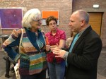 Abstract Artist Chris Billington ~ Exhibition at The Juelich Museum 2013 with Mrs Grunberg
