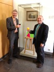 Abstract Artist Chris Billington ~ Exhibition at The Juelich Museum 2013 with Museum Director Marcell Perse