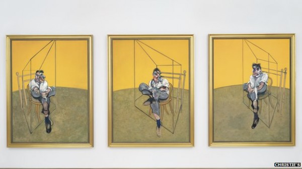 Francis Bacon 'Three Studies of Lucian Freud' painted at the Royal College of Art 1969