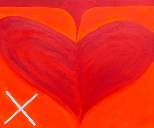 'Love Spreads' (2014) ~ 36in x 30in ~ acrylic on canvas ~ modern art from Chris Billington