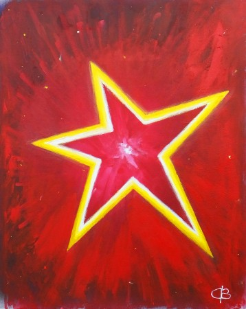 We Are All Made Of Stars (2014) - 24in X 30in - painted for Starchild ~ Chris Billington