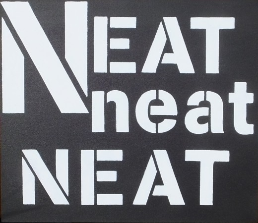 'Neat Neat Neat' (2014) - acrylic on canvas - 28in x 24in - 'Punk ~ The Transatlantic Paintings' - Chris Billington