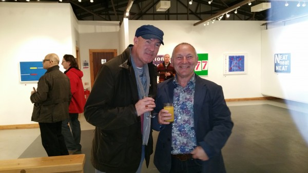 The art of punk ~ Chris Billington  with actor Dean Sullivan ~ 'Punk - The Transatlantic Paintings' exhibition, The Gallery, Liverpool