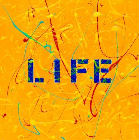 'Lust For Life' (2014) - 12in X 12in acrylic on wood panel 'Punk - The Transatlantic Paintings' - Chris Billington  - New York Art Sales