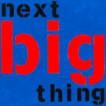'Next Big Thing' (2014) - 12in X 12in acrylic on wood panel 'Punk - The Transatlantic Paintings' - Chris Billington  - New York Art Sales