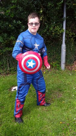 Superhero Charlie Lyne, today he is Captain America - Chris Billington