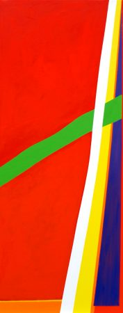 Carn Marth, 2011 acrylic on canvas, 40 x 100cm, Modern Art by British Artist Chris Billington - Sold Art